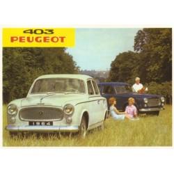 Carte postale PEUGEOT 403