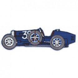 Ecusson Voiture Bugatti Bleue
