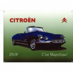Plaque tôle Citroen DS19