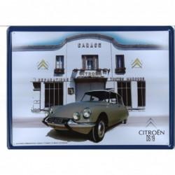 Plaque tôle Citroen DS19...