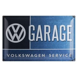 Plaque tôle VW Garage