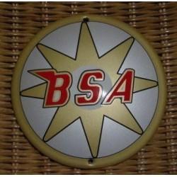 Plaque émaillée BSA blanc