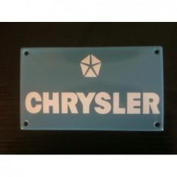 Plaque émaillée Chrysler