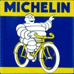Plaque émaillée Michelin Vélo