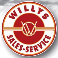 Plaque Emaillée Willys...