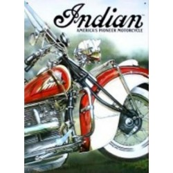 Plaque tôle Moto Indian
