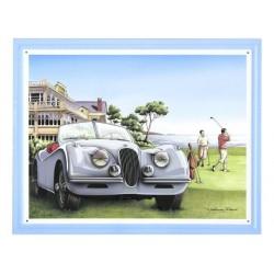 Plaque Tôle Jaguar XK 120 Golf