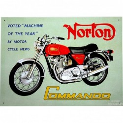 Plaque tôle Norton Commando
