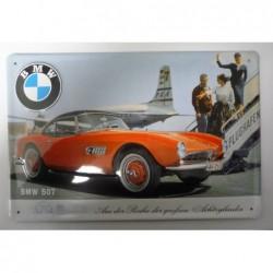 Plaque tôle bombée BMW 507