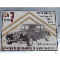 Plaque tôle voiture la 7...