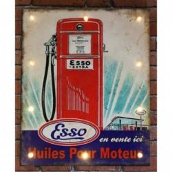 Plaque tôle Esso Panneau...