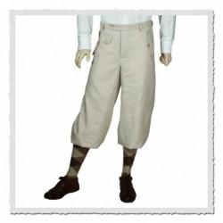 Pantalon Golf en Lin Crème...