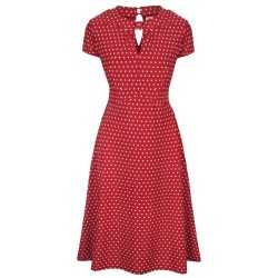 ROBE AMIE ROUGE A POIS