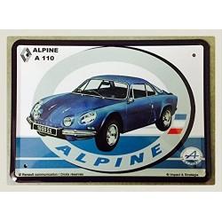 Plaque tôle alpine A110