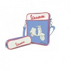 Sacoche Ipad bleue Vespa 50 S