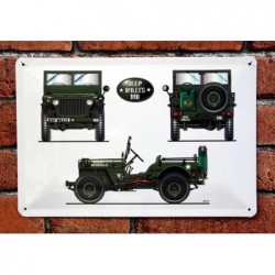 PLAQUE TOLE JEEP WILLYS