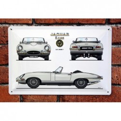 PLAQUE TOLE JAGUAR TYPE E...