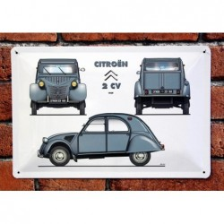 PLAQUE TOLE CITROEN 2CV