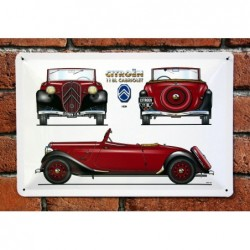 PLAQUE TOLE CITROEN 11 BL...