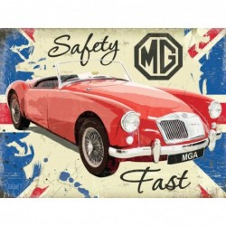 Plaque tôle MG Safety fast GB