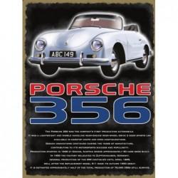 Plaque tôle Porsche 356