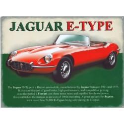 Plaque tôle Jaguar E Type
