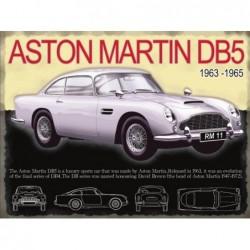 Plaque tôle Aston Martin DB5