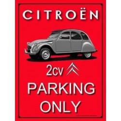 Plaque tôle Citroën 2 cv...