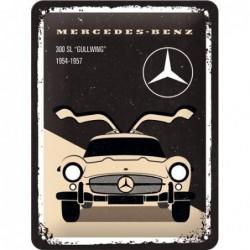 Plaque tôle mercedes 300 SL...