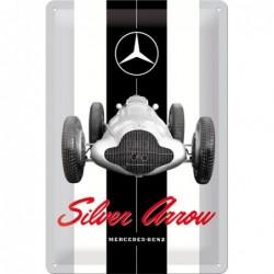 Plaque tôle Mercedes Silver...