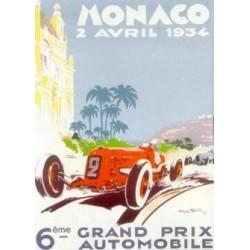 Affiche GP Monaco 1934...
