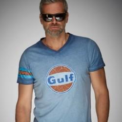 T-shirt GP gulf bleu délavé