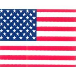 Autocollant drapeau USA