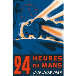 Affiche 24 H du Mans 1955