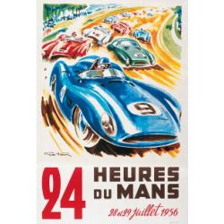 Affiche 24 H du Mans 1956