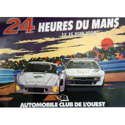 Affiche 24 H du Mans 1980
