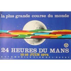Affiche 24 H du Mans 1974