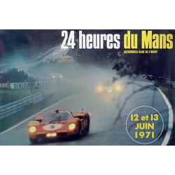 Affiche 24 H du Mans 1971