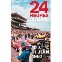 Affiche 24 H DU mANS 1967