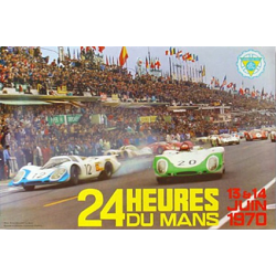 Affiche 24 H du Mans 1970