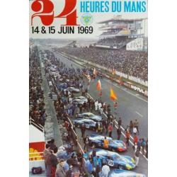 Affiche 24 H du Mans 1969