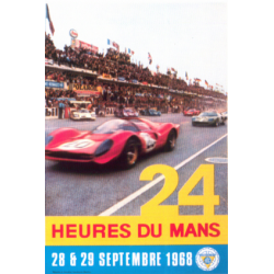 Affiche 24 H du Mans 1968