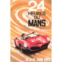Affiche 24 H du Mans 1963