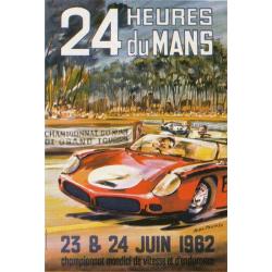 Affiche 24 H du Mans 1962