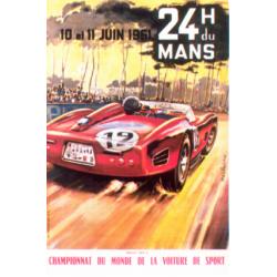 Affiche 24 H du Mans 1961
