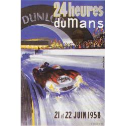 Affiche 24 H du Mans 1958