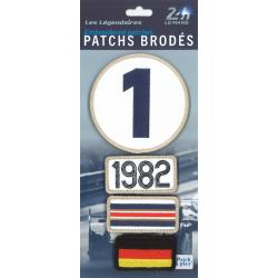 Ecussons 24H Le Mans 1982