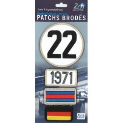 Ecussons 24H Le Mans 1971
