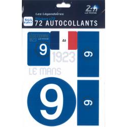 Autocollants 24H Le Mans 1923