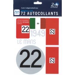 Autocollants 24H Le Mans 1949